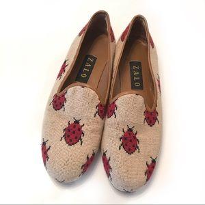 Zalo Lady Bug Ladybug Loafers Flats